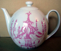 Pink Chandelier Teapot www.DecorativeDishes.net