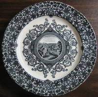 Antique Black Transferware Small Plate www.DecorativeDishes.net