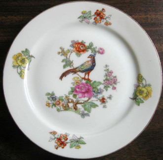 Small Chinoiserie Bird Plate www.DecorativeDishes.net