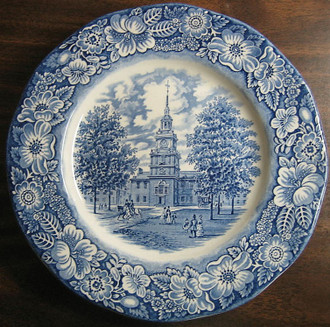 Colonial Transferware Plate www.DecorativeDishes.net