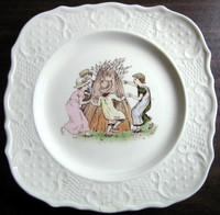 Kate Greenaway Dancer Plate www.DecorativeDishes.net