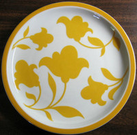 Flower Power Yellow Plate www.DecorativeDishes.net