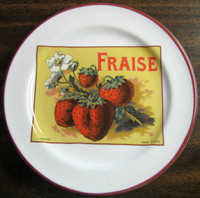 Vintage Rosanna French Strawberry Label Italy Mini Plate