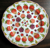 Sweet Summer Berries Scalloped Edge Mini Plate www.DecorativeDishes.net