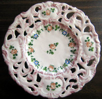 Pink Italian Pierced Rose Plate - www.DecorativeDishes.net