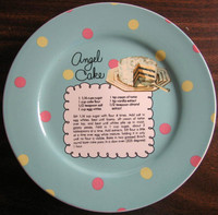 Whimsical Aqua Polka Dot Angel Cake Recipe Cute Cake Plate