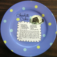 Whimsical Blue Polka Dot Chocolate Cake Recipe Cute Cake Plate