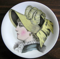 French Straw Victorian Hat Fashion Porcelain Plate Melle Hortense
