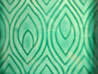 Green and Aqua Blue Peacock Feather Square Plate Tile