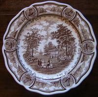 Brown Toile Decorative Plate www.DecorativeDishes.net