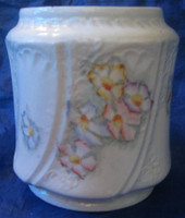 Antique Pastel Hand Painted Pansy Victorian Shabby Chic Jar