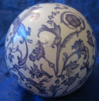 Purple Lavender Toile Wallpaper Style Decorative Ball Orb