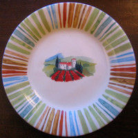 Country French Tuscan Poppy Fields Small Plate