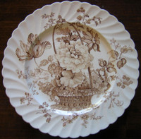 Brown basket decorative plate