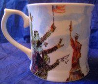 Whimsical New York Statue Liberty Flag Large Mug