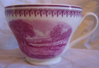 Fuschia Deep Pink Mountain Boys River 1920's Footed Cup