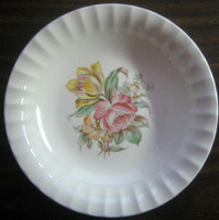 Vintage 1945 Rose Tulip Fluted Edge Bowl USA