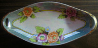 Chinoiserie Iridescent Lotus Handpainted Long Dish