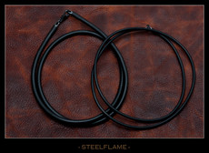 Necklace - Black Rubber Cord