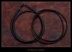 Necklace - Black Rubber Cord