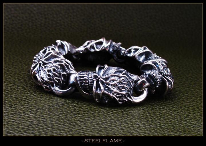 Reaper Bracelet in Sterling Silver