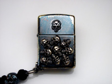 Custom One-Off Pile of Skulls Warrior Zippo