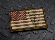 Steel Flame Old Glory Crusader patch