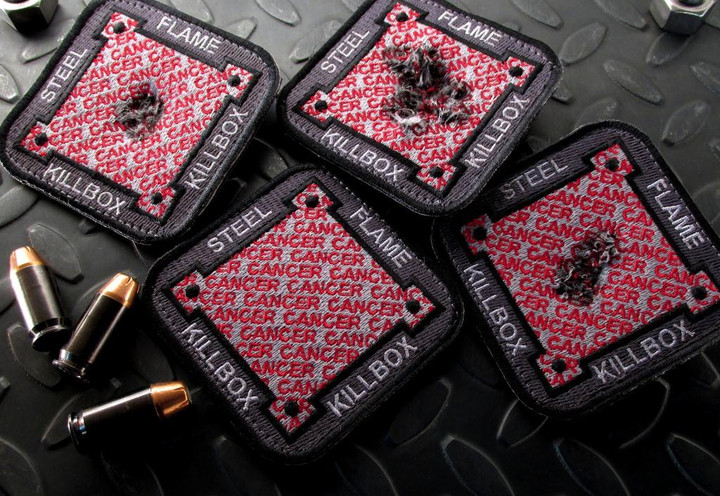 Steel Flame Cancer KillboX Patch