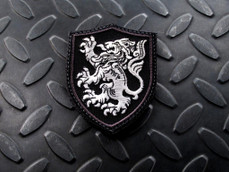Steel Flame Crusader Lion Patch