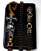 Bronze Silver Wallet Chain