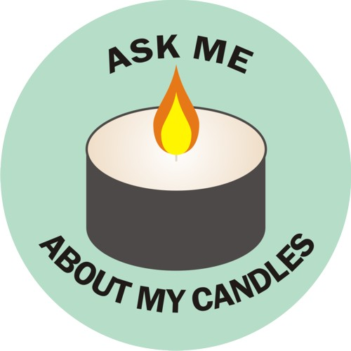 ask me about my candles free graphic