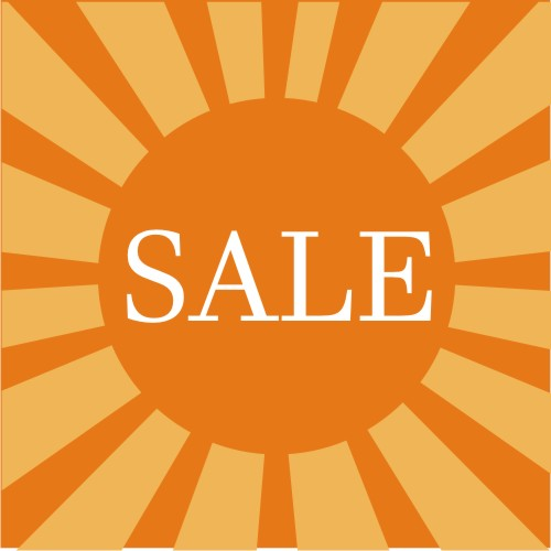 free sale graphic orange