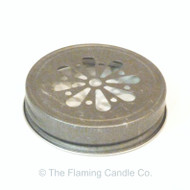 Jelly Jar Lids - Pewter Daisy Cut