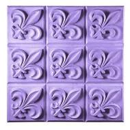 Tray Fleur de Lis Soap Mold