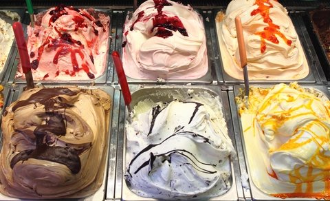 The best milk based flavors for real Italian Gelato Ice cream yogurt