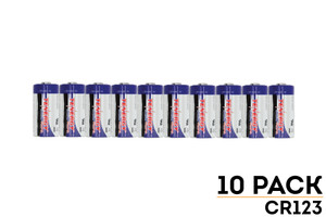 10-Pack of Tenergy CR123A Propel Batteries