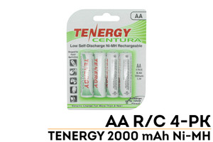 Tenergy Centura 10307 LSD AA Rechargeable Battery 2000mAh 4 Pack