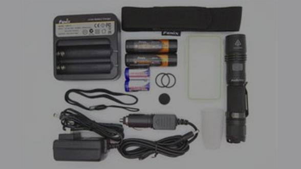 Fenix Flashlight Package Deals - Flashlight, charger, batteries, and a case, all in one