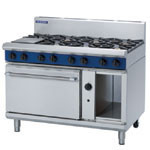 Blue Seal G508D 8 Burner Gas Cook Top on Gas Static Oven