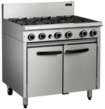 Cobra CR9D 6 Burner Gas Cook Top Gas Static Oven Range