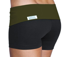 """Rolldown Shorts - Army on Black - Medium - 4.5"""" Inseam - 11.5"""" Sides (1 Available)"""