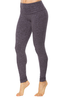 High Waist Double Weight Butter Sport Band Leggings - READY (Under Heel)