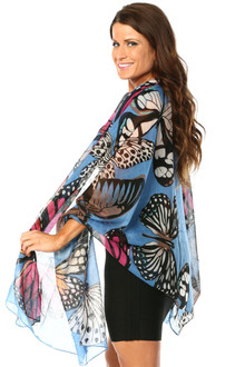 Blue Shawl Scarf - FINAL SALE