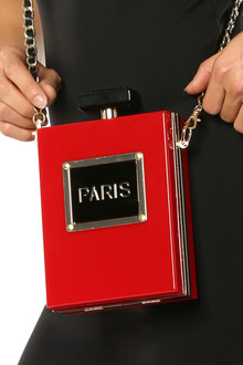 Red Paris Perfume Bottle Clutch - FINAL SALE