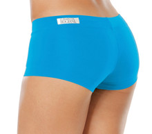 "Lowrise Mini Shorts - BRIGHT TURQUOISE - FINAL SALE - SMALL - 2.5"" INSEAM - 7"" SIDES"