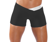 """JNL - BumbleBee Shorts - FINAL SALE - SILVER ON BLACK - SMALL - 4.5'' INSEAM - 10"""" SIDES (1 AVAILABLE)"""