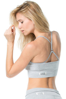 Bella Bra w/ Removable Pads Light Gray- Ready