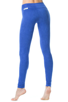 Stretch Suede Sport Band Leggings - Tight