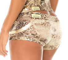 "JNL Cleopatra Lowrise Mini Shorts - FINAL SALE - XSMALL - 2"" INSEAM - 6.5"" SIDES (1 AVAILABLE)"