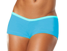 "Alicia Marie - Cover Girl Shorts - FINAL SALE - LIGHT TURQ ON BRIGHT TURQ - SMALL - 1"" INSEAM - 5"" SIDES (1 AVAILABLE)"